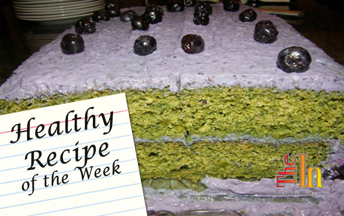 Healthy Recipe: Kale Cake with Blueberry Frosting