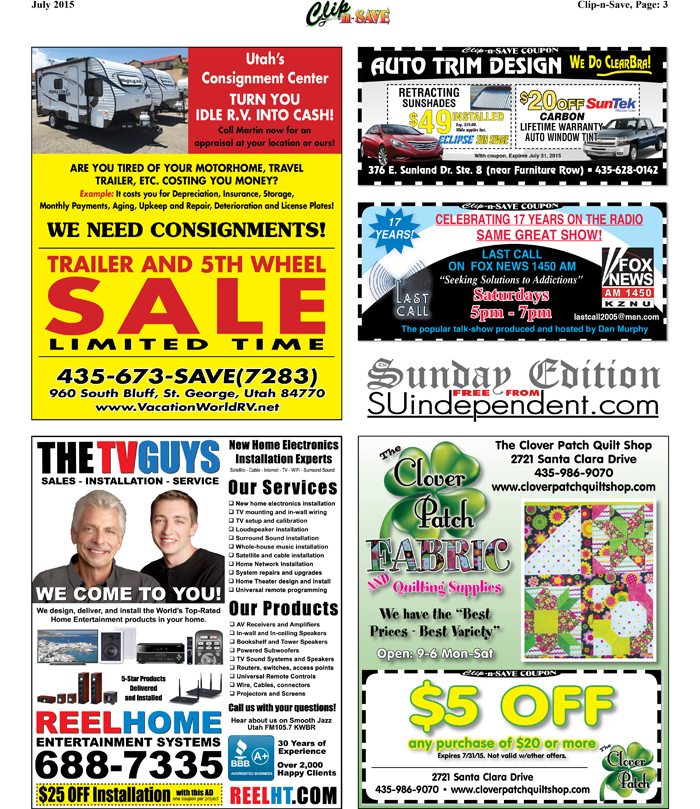 July Clip-n-Save Page 3: Coupons for Vacation World R V