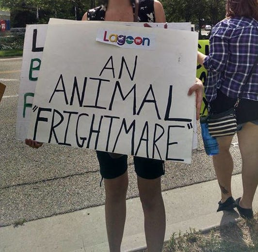 Lagoon Park protest animal activists Utah