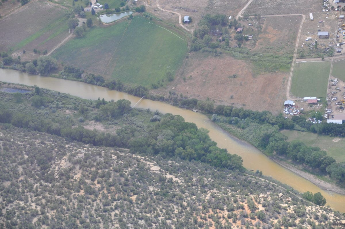 Animas River as pollution arrives