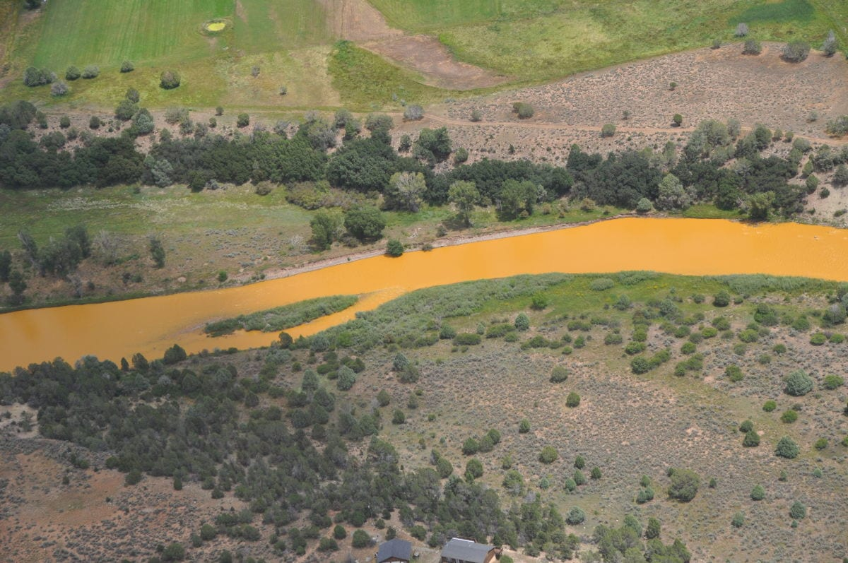 Animas River after pollution arrives