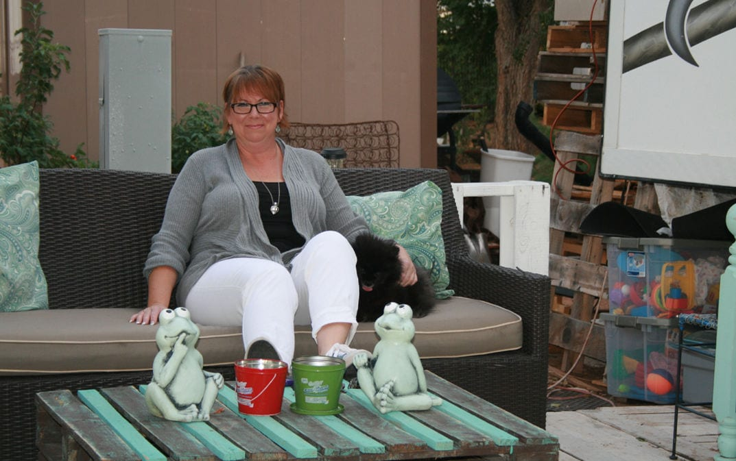 Kathy Proctor at home
