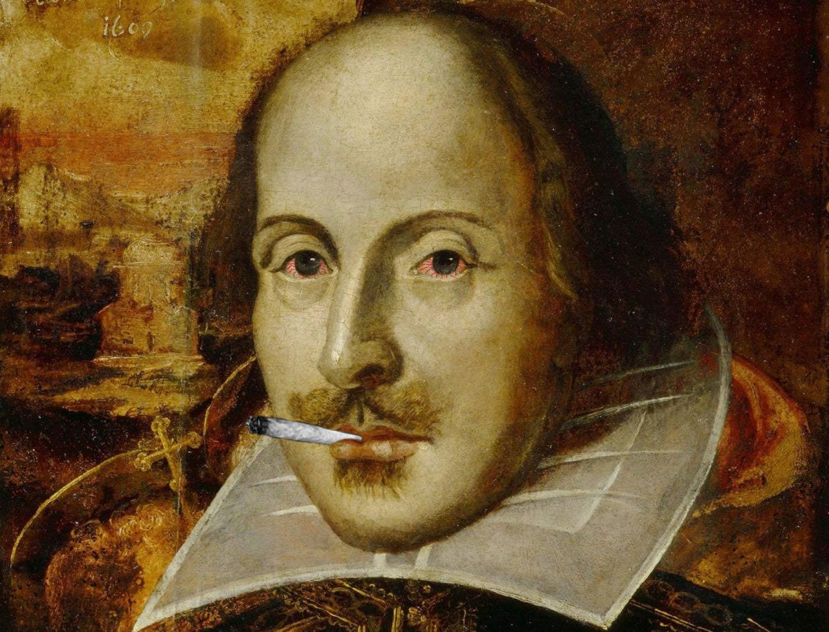 Shakespeare implicated as a stoner: verily, nothing is sacred