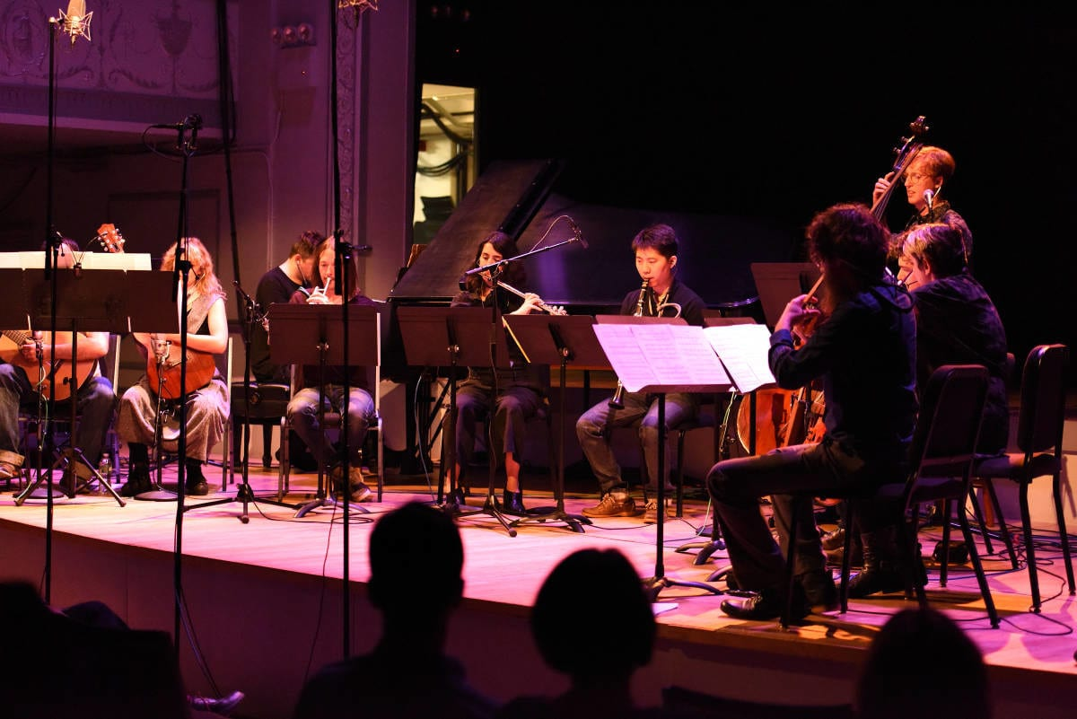 "The yMusic chamber ensemble backs up Ben Folds for the first eight tracks on ""So There."" Photo by Steven Pisano / CC-BY"