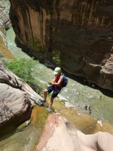 Bo Beck rock climbing canyoneering