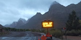 zion national park shut down