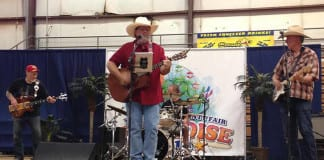 Rich Panessa and The Fabulous Honky Tonk Heroes play at Ancestor Square