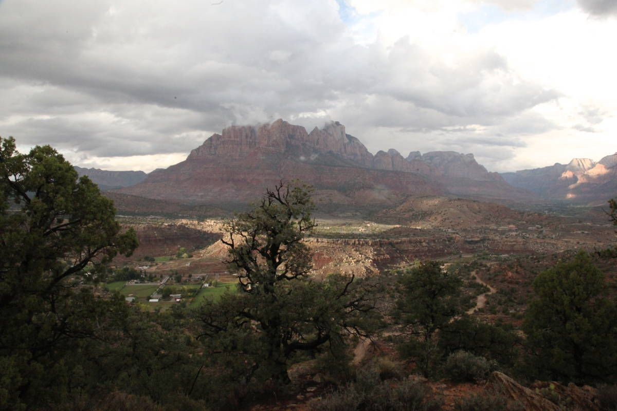 winter in Zion National Park photos