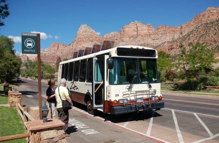 Zion National Park shuttle schedule