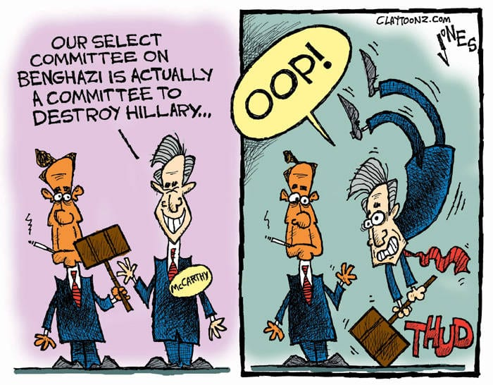 cartoon Kevin McCarthy Benghazi Hillary Clinton