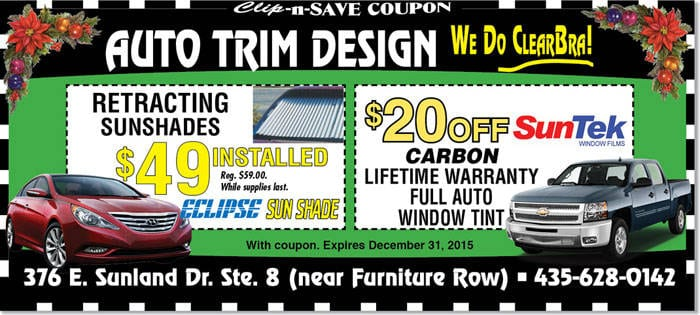 Vehicle Tint Coupon St George 20 Off Full Auto Window Tint