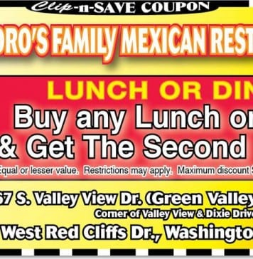 Mexican Restaurant coupon St George