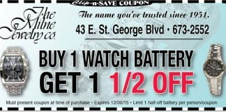 watch battery replacement coupon St George