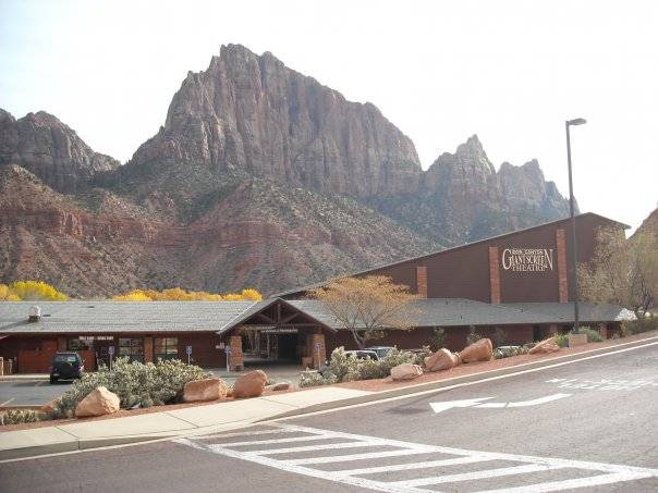 Zion Canyon Giant Screen Theatre winter