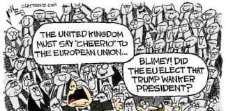 cartoon Claytoonz Clay Jones Great Reason to Leave the EU