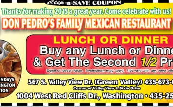 Mexican restaurant coupon St. George