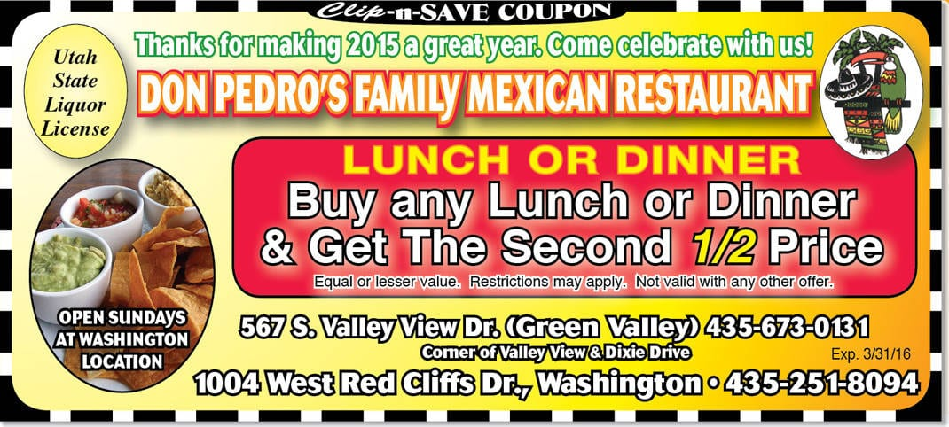 Half off restaurant coupons