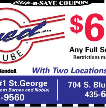 Oil Change Coupon St. George