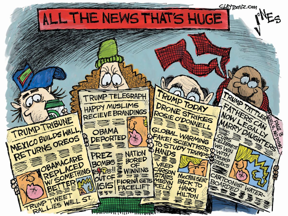 Cartoon Quot All The News That S Huge Quot