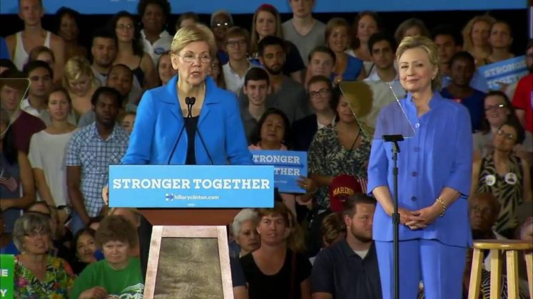 Clinton-Warren ticket two women Hillary Clinton Elizabeth Warren