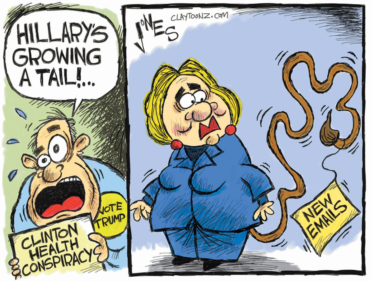 Cartoon Hillary S Health Scare The Independent News Events Opinion More