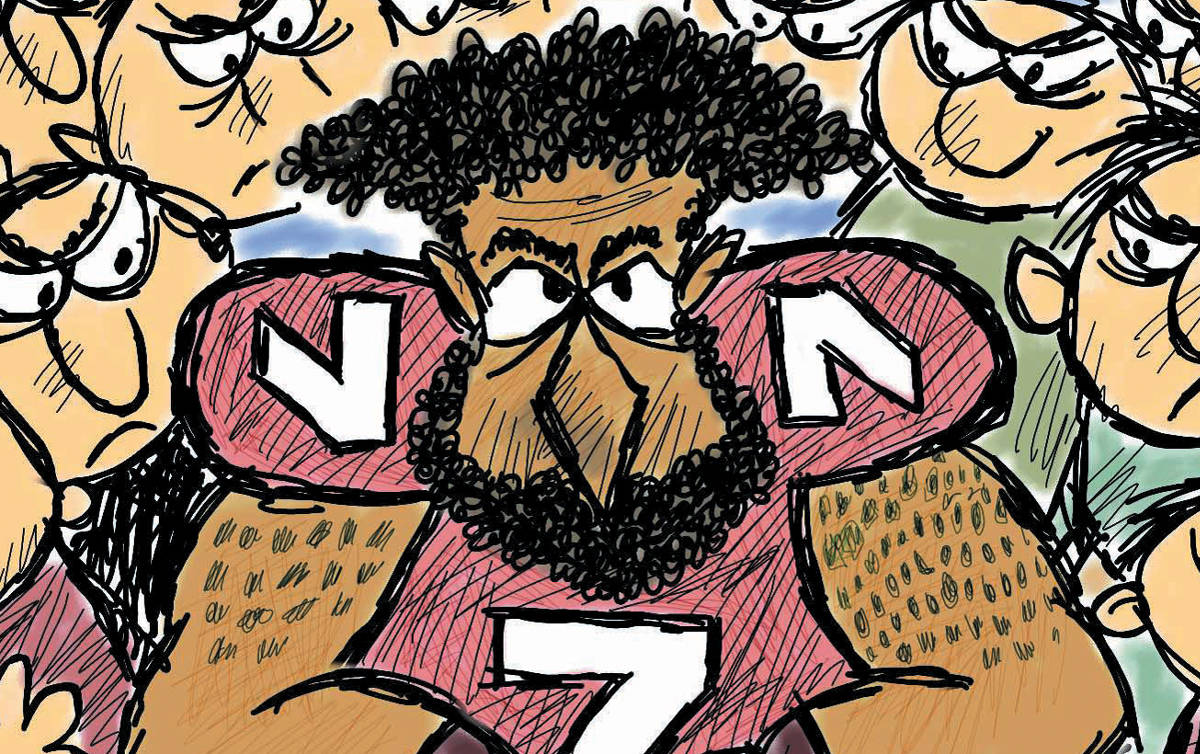 political cartoon kaepernick national anthem