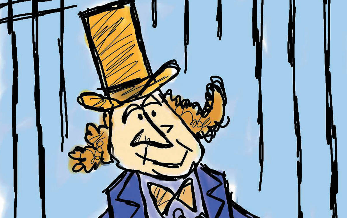 political cartoon Gene Wilder