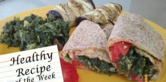 Hummus Wrap with Kale and Eggplant recipe