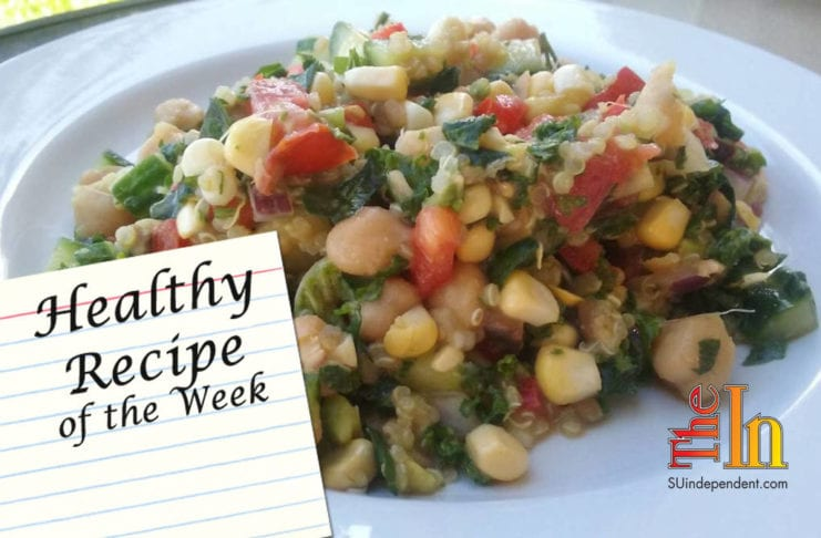 Chickpea Quinoa Salad with Kale recipe
