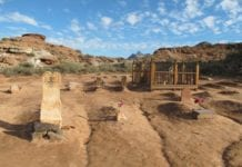 southern utah weekend events guide cover: grave-486012_1920