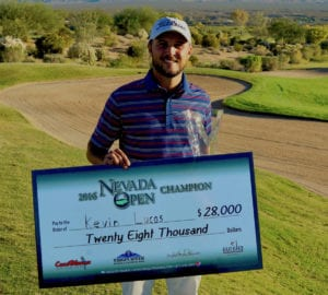 Kevin Lucas wins the 2016 Nevada Open, presented by Mesquite Gaming on Thursday, Nov. 10 at the CasaBlanca Golf Club in Mesquite, Nevada.