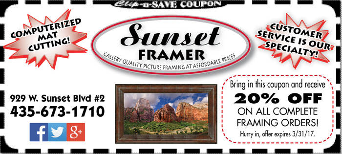 Artwork framing St. George
