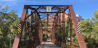 Rockville's historic Parker through-truss bridge