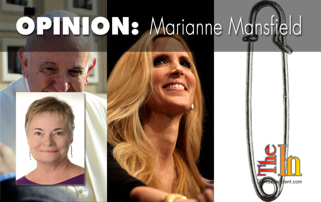 Pope Francis, Ann Coulter, and a safety pin