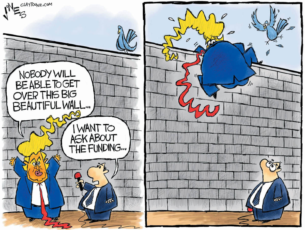 """CARTOON: """"Scale That Wall"""""""