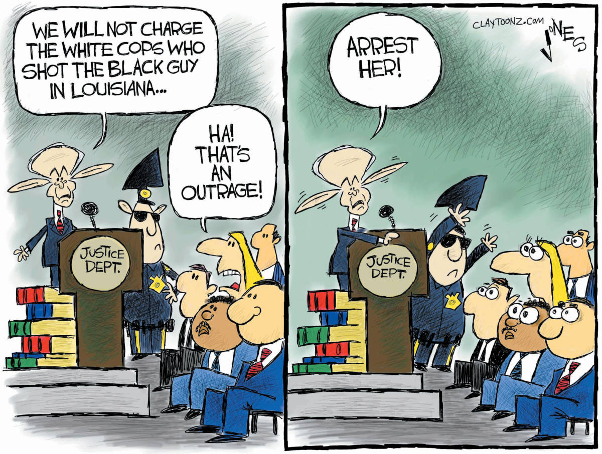 "CARTOON: ""Laughable Justice"""
