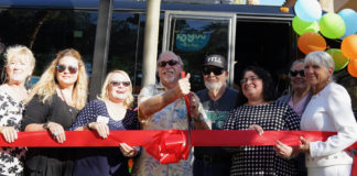 Ribbon-cutting Mesquite Gaming, St. George Express partnership