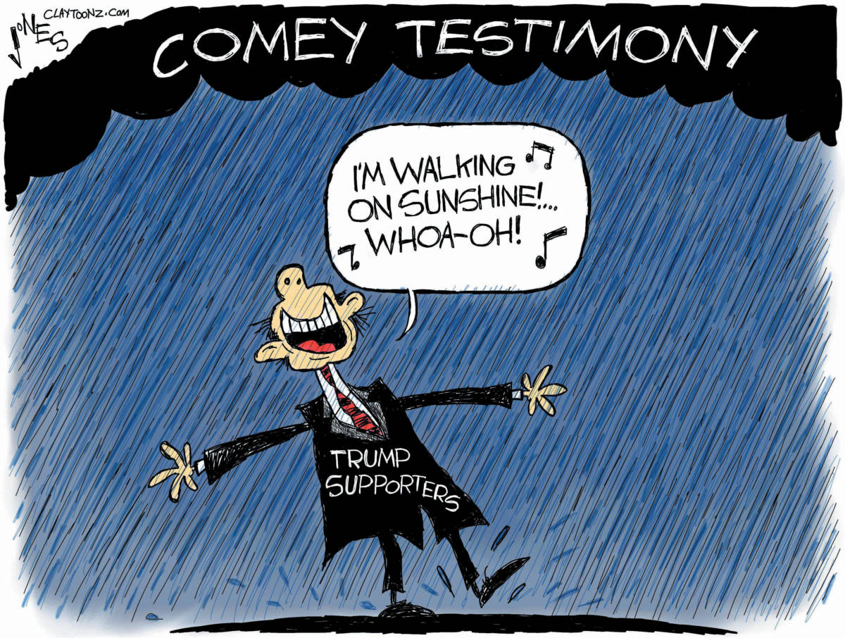 "CARTOON: ""Comey Storms In"""