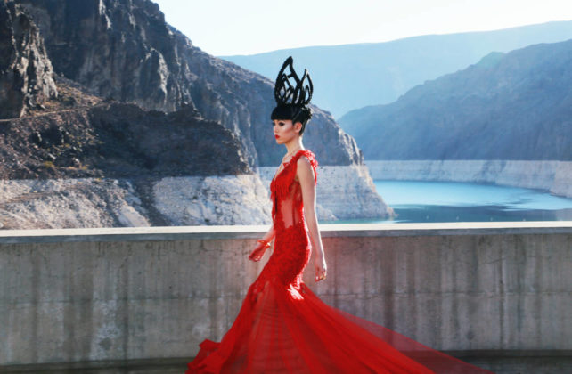 Designer Jessica Minh Anh holds fashion show atop Hoover Dam