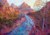 Erin Hanson and Royden Card featured at Zion National Park Museum exhibit Impressions of Zion