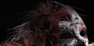 southern utah weekend events Light Painting Venetian Mask Red