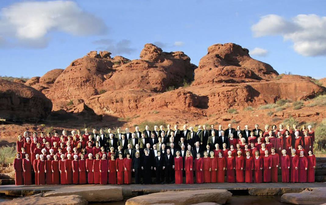 Jenny Oaks Baker & Family Four perform with Southern Utah Heritage Choir