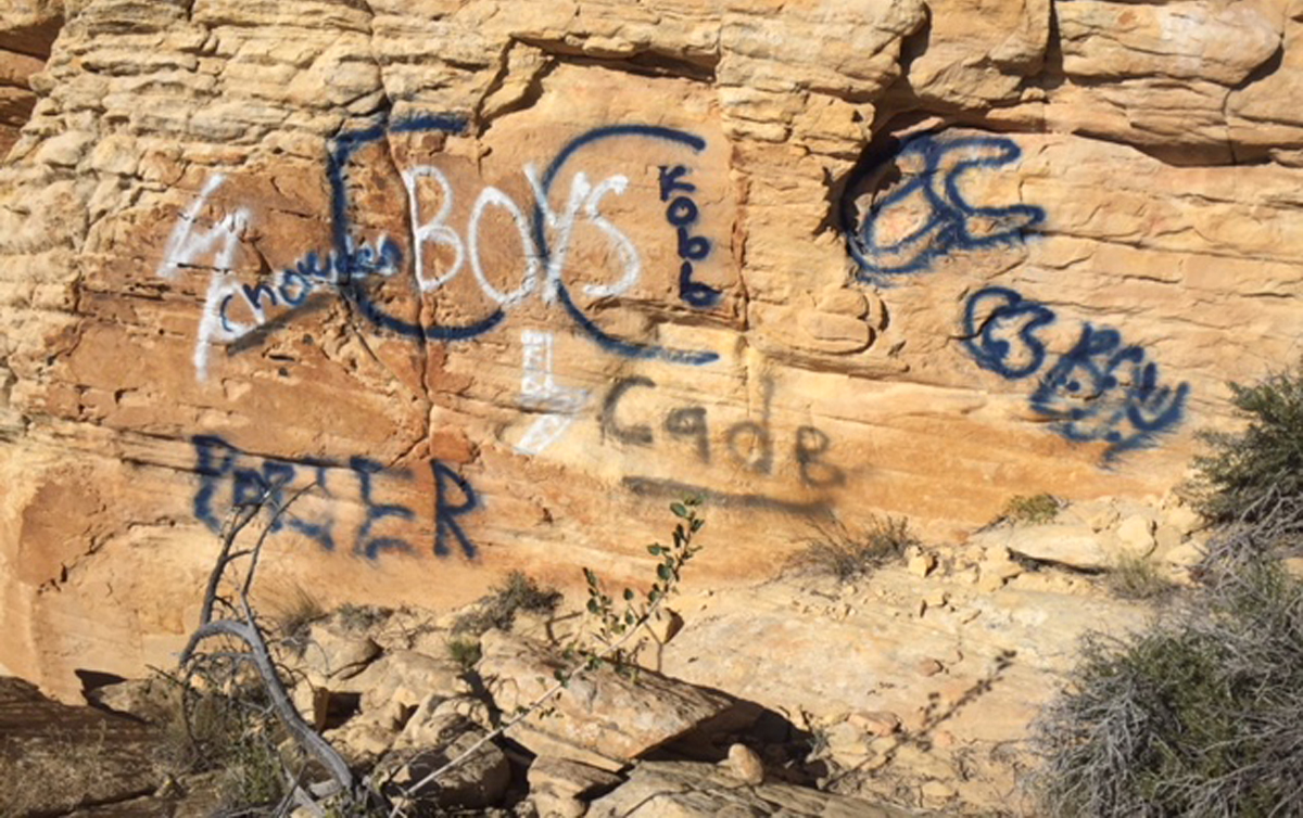 Vandals deface Snow Canyon State Park