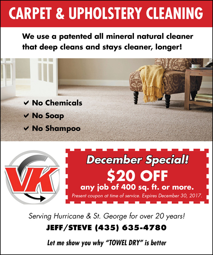 Carpet & Upholstery Cleaning in Southern Utah | Veri Kleen