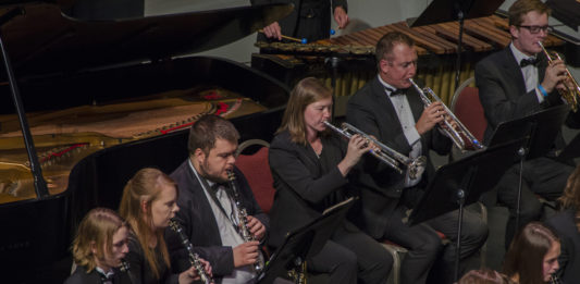 Honor Band performs at Heritage Center Theater