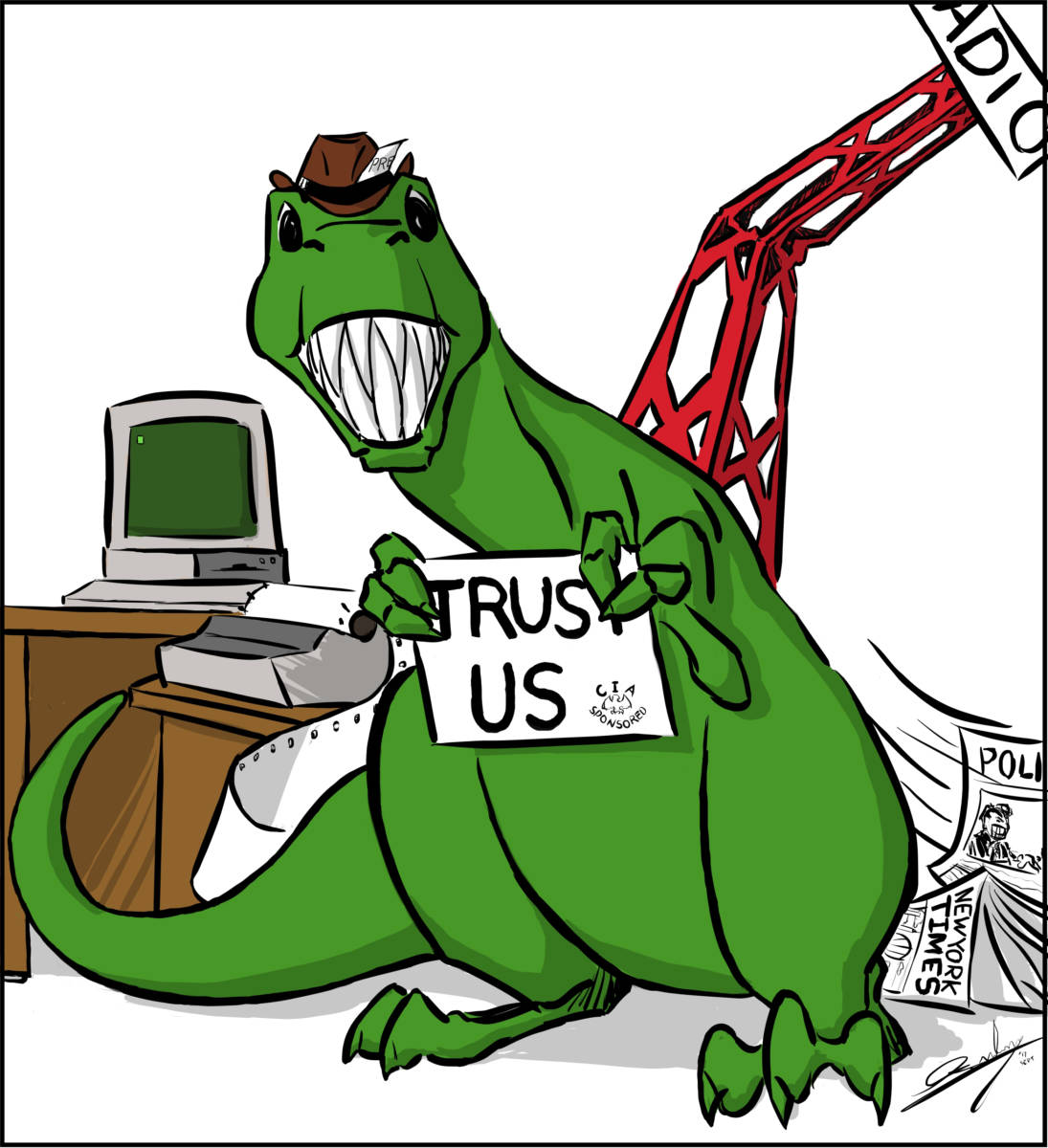 "Cartoon: ""Dino Press"" By Chad Ginsburg, Skroder Comics"