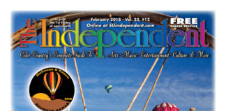 The Independent February 2018 (PDF) featuring Kanab Balloons & Tunes