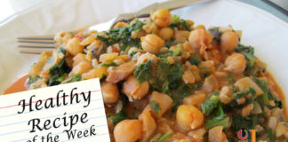 vegan recipe Spicy Thai Kale and Garbanzo Beans