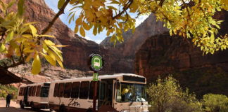 Just in time for the resumption of service from Zion National Park's shuttle buses March 10, spring break begins for many colleges and universities.