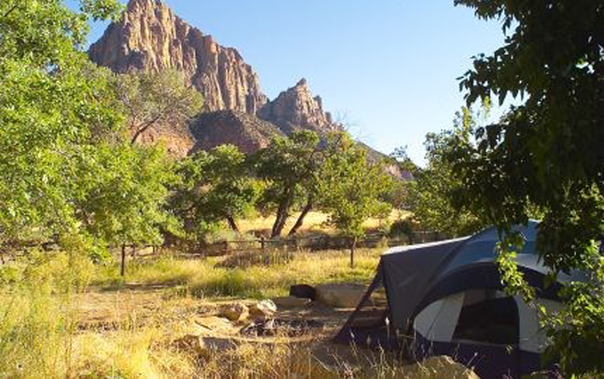 south campground at zion national park now accessible by online
